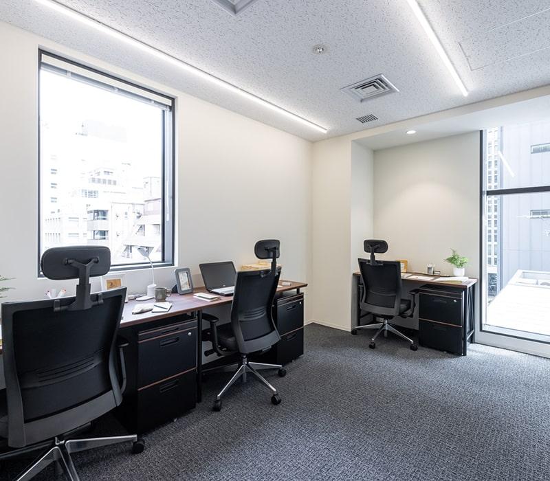 1名〜複数名で利用できるオフィス:ビジネスエアポート京橋